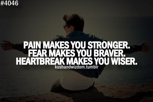 pain fear heartbreak