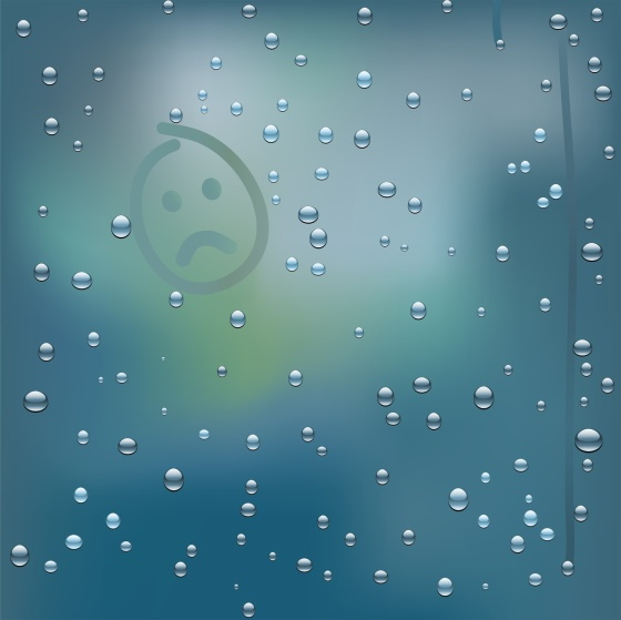 sad rainy face